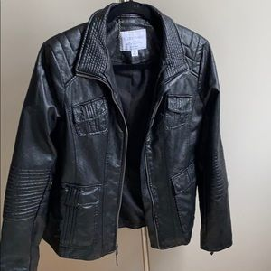 Lucky Brand faux leather jacket, size M